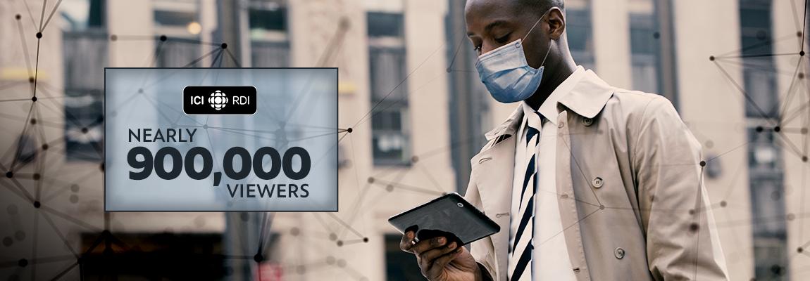 NEARLY 900,000 VIEWERS