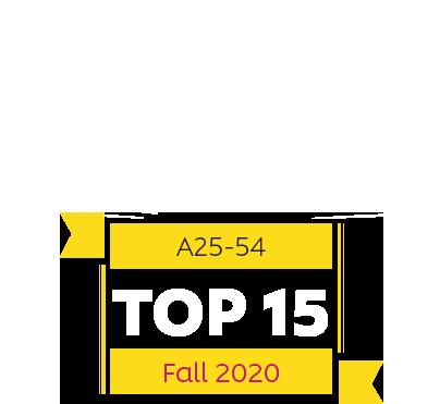 TOP 15 – A25-54 – Fall 2020