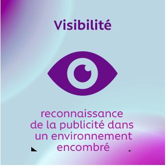 Visibilité – reconnaissance de la publicité dans un environnement encombré